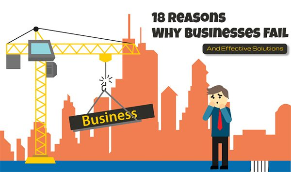 18 Reasons Why Businesses Fail & Effective